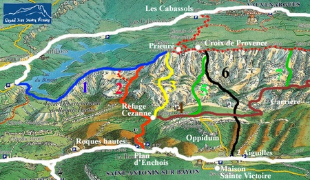 Carte Sainte Victoire