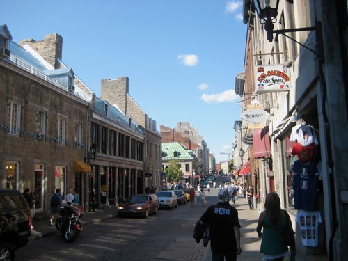 Le Vieux Montreal et ses rues
