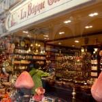 Chocolats belges en vitrine