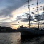 Bateau sur le Port de Stockholm