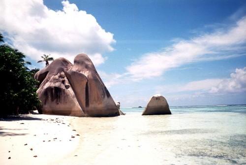 'Anse Source d'Argent sur l'île de la Digue (Les Seychelles)
